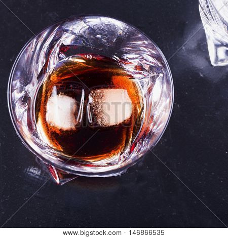 Glass With Liquor And Ice