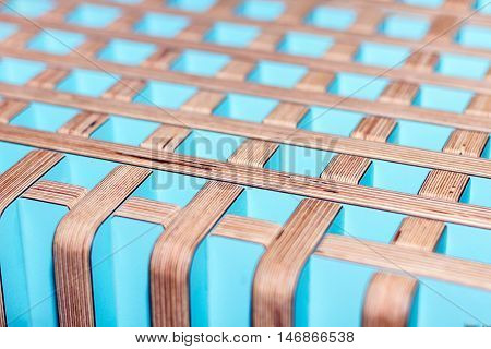 Abstract background. Colorful wooden interior perpendicular lines