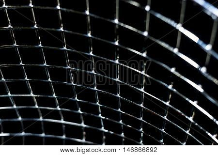 Abstract background. Metal perpendicular lines of net
