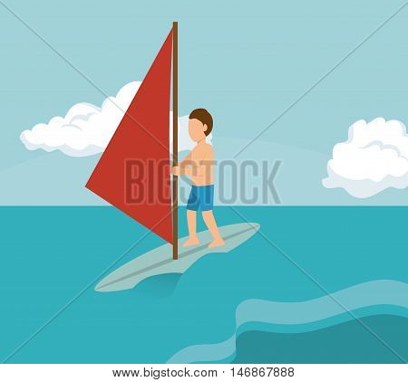 extreme sports design isolated vector illustration eps 10