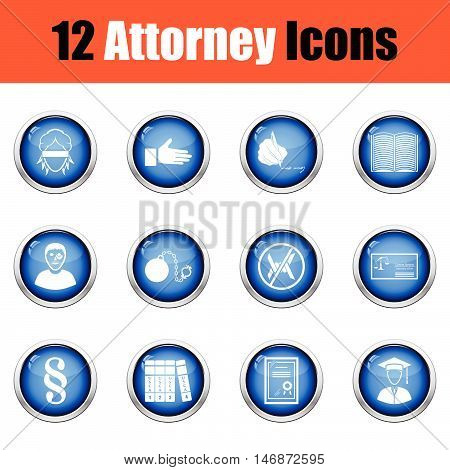 Set Of Attorney Icons.