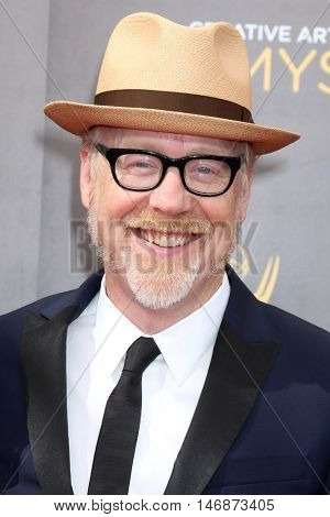 LOS ANGELES - SEP 11:  Adam Savage at the 2016 Primetime Creative Emmy Awards - Day 2 - Arrivals at the Microsoft Theater on September 11, 2016 in Los Angeles, CA