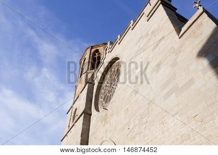 Saint Michel Cathedral In Carcassonne In France In Summer