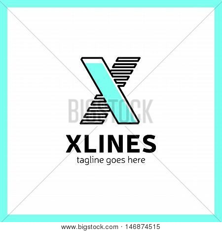 Abstract Letter Sport X Logo Design Template,fast Speed Moving,quick Energy Sign