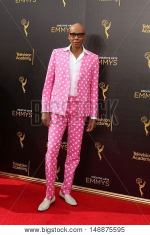 LOS ANGELES - SEP 11:  RuPaul Andre Charles at the 2016 Primetime Creative Emmy Awards - Day 2 - Arrivals at the Microsoft Theater on September 11, 2016 in Los Angeles, CA