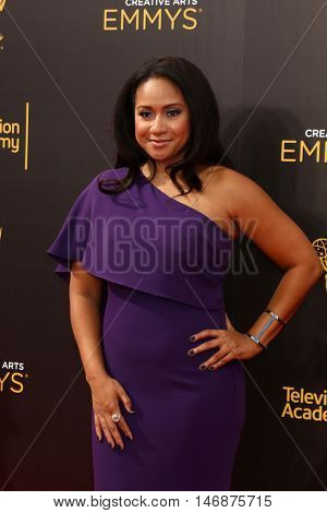 LOS ANGELES - SEP 11:  Tracie Thoms at the 2016 Primetime Creative Emmy Awards - Day 2 - Arrivals at the Microsoft Theater on September 11, 2016 in Los Angeles, CA