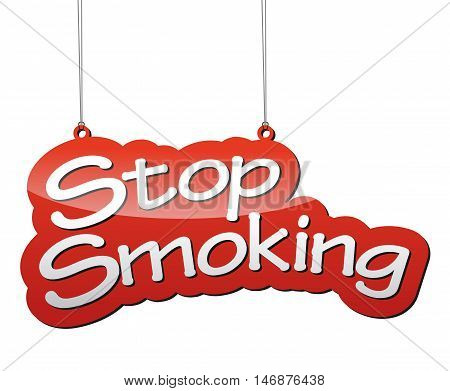 This is red vector background stop smoking