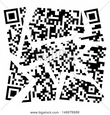 vector broken qr code qr code containing important information