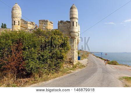 Bastion Yenikale fortress on the shore of the Black Sea. Kerch. Crimea