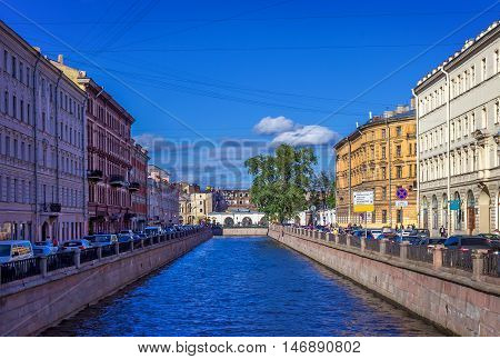 The channel of Griboedov in St Petersburg Russia