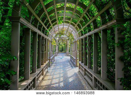 Hamilton, Nz - February 25, 2015: Italian Renaissance Garden In Hamilton Gardens