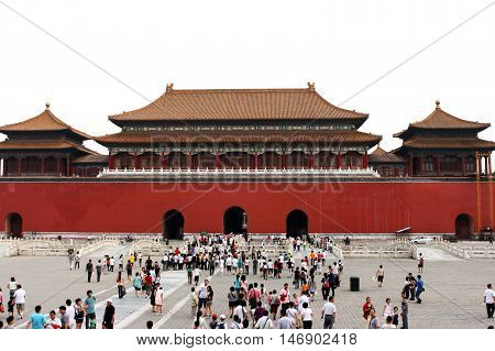 Beijing. China. - August 20, 2009 - Palace in the Forbidden City. Chinese symbol in August 20, 2009 in Beijing. China