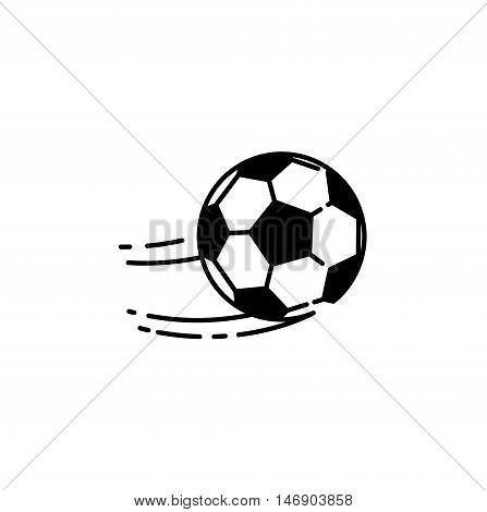 Football ball. Simple soccer ball icon. Vetor illustration