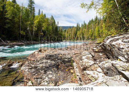 Bailey´s Chute, Wells Gray Provincial Park, Bc, Canada