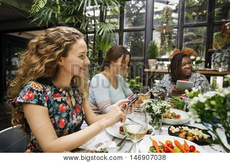 Girlfriends Meetup Hangout Dining Concept