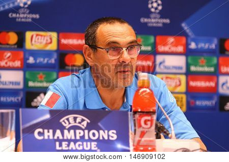 Uefa Champions League Dynamo Kyiv V Napoli: Pre-match Press-conference