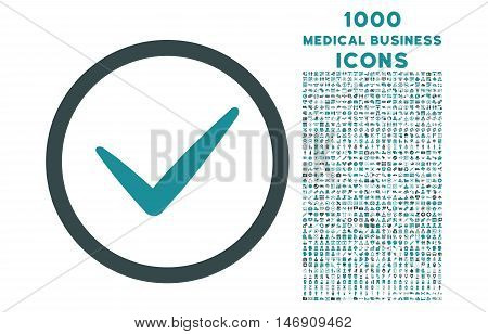 Valid rounded glyph bicolor icon with 1000 medical business icons. Set style is flat pictograms, soft blue colors, white background.
