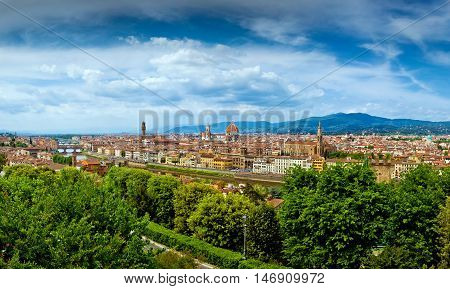 Panorama view of Firenze city in Italy