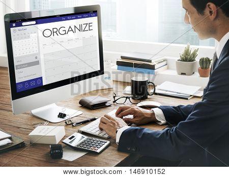 Schedule Calendar Agenda Reminder Personal Organizer Concept