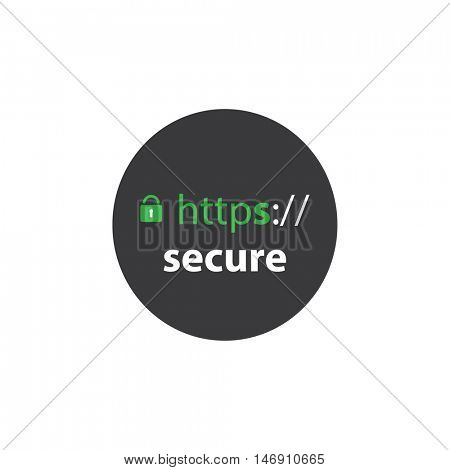 HTTPS Protocol - Safe and Secure Label