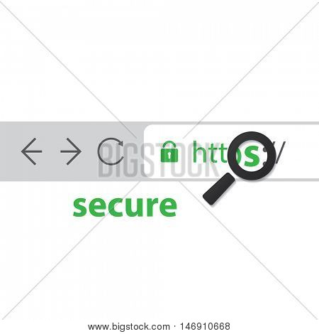 Browser Address Bar with Https Protocol - Secure Connections Trend