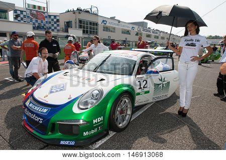 Vallelunga, Rome, Italy. September 10Th 2016. Porsche Carrera Cup