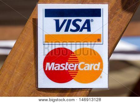 Visa Mastercard Sign And Logo
