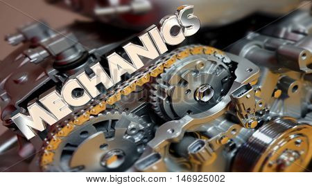 Mechanics Automotive Technician Job Engine 3d Illustration