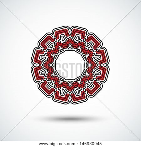 Circular Design Element In Eastern Style