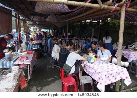 Traditional Market In Taiwan Native Village