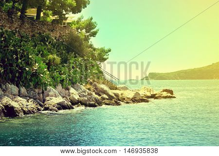 View From The Deck Of Cruise Ship On The Skiathos Harbor. Skiathos Island, Sporades Archipelago. Gre