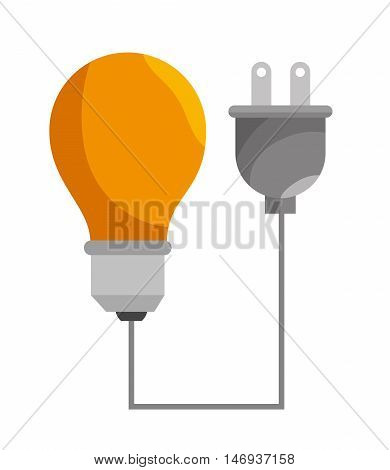 bulb efficiency isolated icon design, vector illustration  graphic