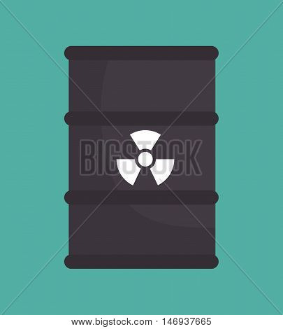 barrel nuclear radiation design isolated vector illustration eps 10