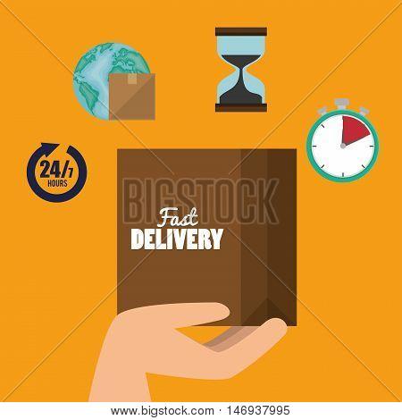 cardboard box cargo shipping design isolated vector illustration eps 10