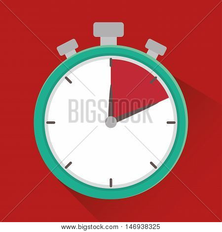 chronometer time delivery design isolated vector illustration eps 10