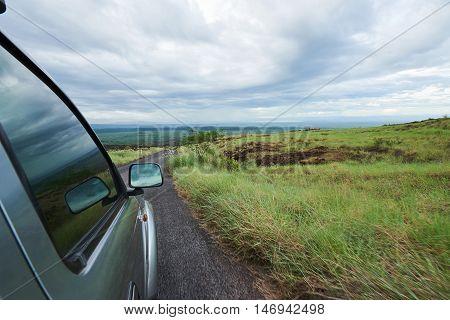 Car Move In Volcano National Park
