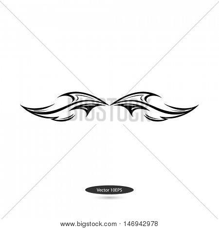 Logo flame of fire. Tatoo. Element for design. Vector illustration.