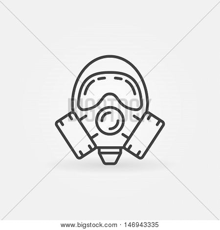 Gas mask line icon. Vector linear respirator symbol or logo element