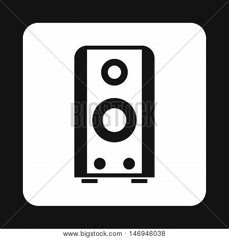 Music speacker icon in simple style isolated on white background. Sound symbol vector illustration