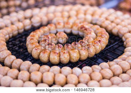 Sai Krok Isan, isan sausage style in Thailand