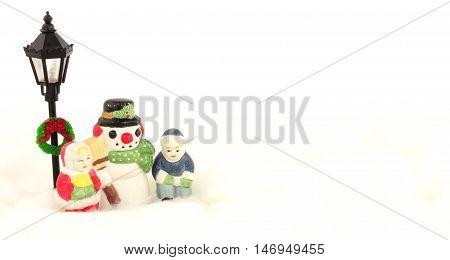 Traditional festive Christmas winter decorative ornament scene