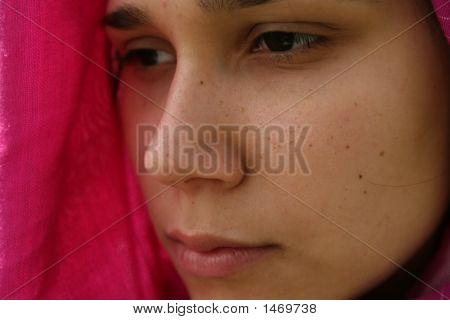 Serious Muslim Woman
