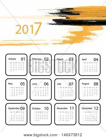 2017 vector calendar design. Elements for your work. Eps10