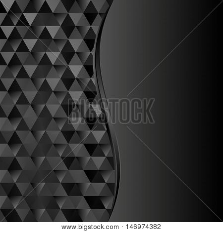 black textured background divided into two - vector illustration