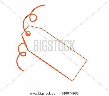 Blank Copy Space Gift Present Orange Tag