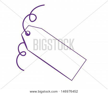Blank Copy Space Gift Present Purple Tag