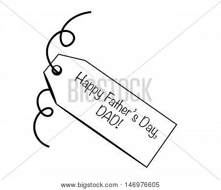Happy Father's Day DAD Gift Present Tag