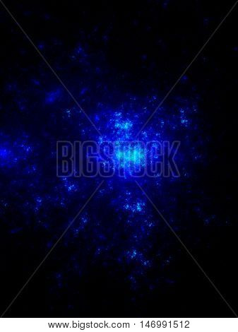 The bright star cluster in outer space galaxy.