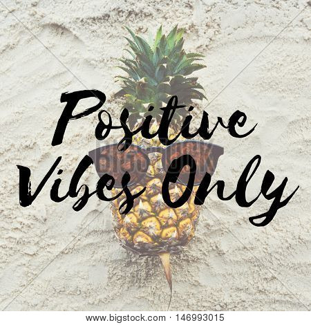 Vacation Relaxation Positive Vibes Concept