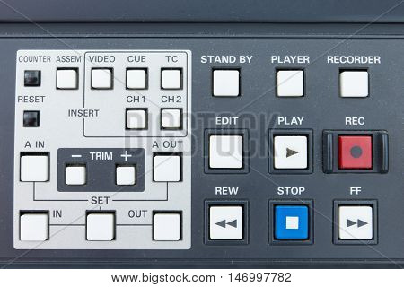 Buttons of the tape Broadcasting system .